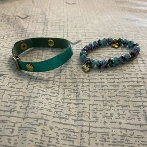 3/$18!! Real Leather and Marble Bracelets